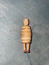 Antique Rare Wooden Joke Man In Barrel Weenie