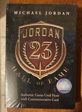 Michael Jordan 2009 Sealed Hall of Fame Card and Game Used Floor