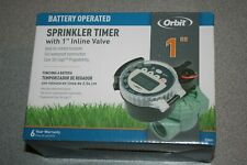 Orbit Battery Operated Sprinkler Timer w/1inch Inline Valve 57860 NEW