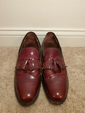Foot So Port Burgundy Wingtip Tassel Leather Loafers Shoes 11.5 AA