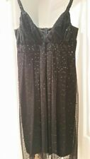 TABLE EIGHT LADIES  BLACK BEADED EVENING DRESS SIZE 14 - PRE OWNED  RRP $259.00