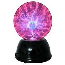"Lightahead 6"" Plasma Ball Lamp with Peace Sign globe design Touch sound"
