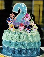 INSPIRED Custom BABY SHARK CAKE TOPPER - PERSONALIZED FOR BIRTHDAY - R2