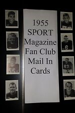 1955 SPORT MAGAZINE FAN CLUB MAIL IN OFFER FOOTBALL cards $14.99 each YOU PICK!