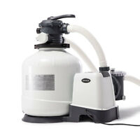 Intex 3000 GPH Above Ground Pool Sand Filter Pump with Automatic Timer | 26651EG