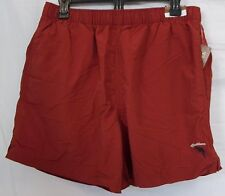 Caribbean Roundtree & Yorke Size L Large Red New Mens Swimming Trunks Shorts