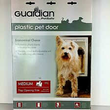 Guardian by PetSafe White Plastic Pet Door Medium Pets to 40 lbs. Dog Cat