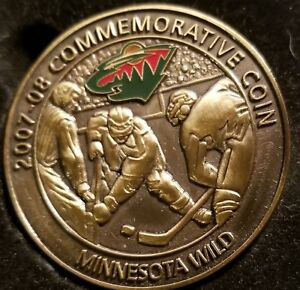 MINNESOTA WILD 2007-08 Commemorative Coin #4867/5000, extremely fine condition