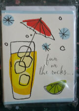12 Cocktail Party Invitations -  Fun on the rocks ! Drinks New Sealed