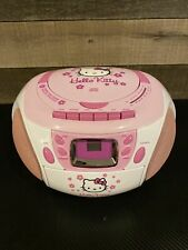 Hello Kitty Cd/Cassette Player Boombox Stereo Radio Tape Recorder Kt2028B~Works
