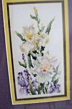 Floral Flowers Garden Finished and Professionally Framed Cross Stitch Picture