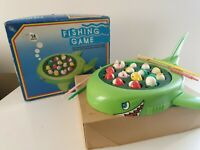 Vuntage Children Electric Rotating Fish Fishing Rod Game.
