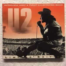 U2 Fully Illustrated 120 page Book & Interview Cd Disc Bono Limited Edition 1995