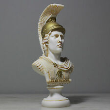 "Alexander The Great of Macedonia with Helmet Bust Greek Statue Figure 20cm/7.9"""