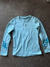 Under Armour Girls Cold Gear Fitted Shirt Size Youth S YSM Mint Green