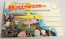 1950s Hollywood Star Fan Postcard Folder 12 Color Views