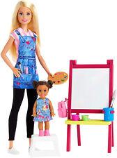 Barbie Art Teacher Doll Playset Kid Toy Gift
