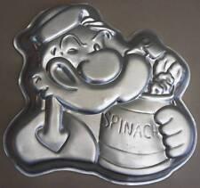 POPEYE Vintage Aluminum Tin Cake Pan 1980 Hanna Barbera WILTON Spinach Pop Eye