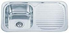 Stainless Steel Reversible 1.0 One Single Bowl Kitchen Sink & Drainer (B04 mr)