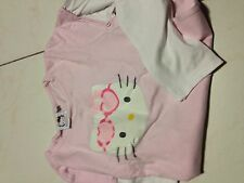 Tshirt  HELLO KITTY manches longues rose et blanc Enfant Fille 10 Ans