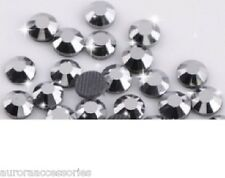 2mm Excellent Quality Hot Fix/Iron On Mine Silver Flatback Round HOTFIX SS6