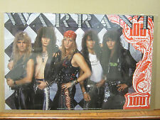 vintage Warrant poster original rock  and roll 1989 2217
