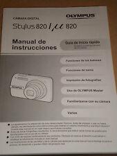 Manual De. Instr . Olympus Instruction Manual / Quick Start Guide Booklet