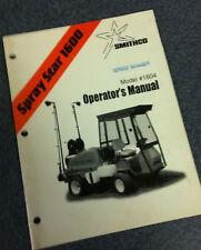 Smithco Spray Star Prime Mower 1604 Operator's Manual