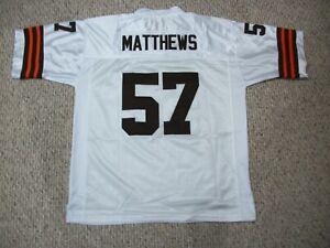 CLAY MATTHEWS Unsigned Custom Cleveland White Sewn Football Jersey Sizes S-3XL