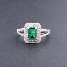 1.85 Carat 14KT White Gold Natural Green Emerald EGL Certified Diamond Ring