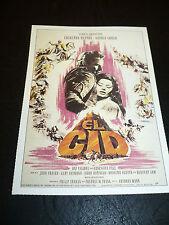 EL CID, film card [Charlton Heston, Sophia Loren]