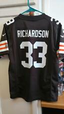 PRE-OWNED NFL CLEVELAND BROWNS TRENT RICHARDSON #33 NIKE JERSEY YOUTH SIZE LARGE