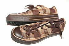 Converse Chuck Taylor All Star Brown Plaid Low-Top Sneakers SIZE WO'S 6  Men's 4
