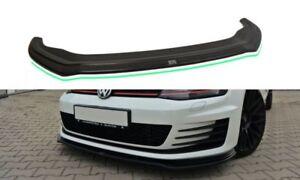 Diffusor Frontlippe für VW Golf 7 GTI GTD VII ABS Frontspoiler Lippe Glanz V2