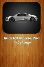 Silver Audi R8 Coupe Sports Car Mouse Pad Home Or Office