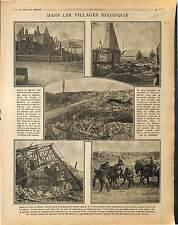 Ruines Village Flavy-le-Martel Aisne Saint-Quentin Juvy Poilus British  1917 WWI