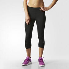 adidas Calf Length Running Activewear for Women with Wicking