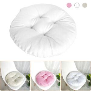 Round Floor Pillow Circular Garden Cushions Home Dining Chair Seat Pads UK
