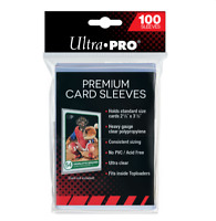 (100) Ultra Pro Premium Platinum Trading Card Sleeves Heavy Duty Acid/PVC Free