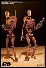 SOLD - Star Wars 1/6 SIDESHOW GEONOSIS BATTLE DROID Army Trooper Clone War