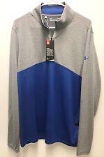 Under Armour UA Golf Outerwear Pullover Half Zip Blue Grey Large Heat Gear