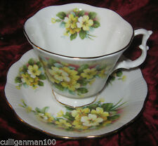 1 - Royal Albert Yellow Cornflowers Green Leaves Tea cup and Saucer (2017-213)