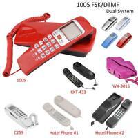 Desk Wall Mount Telephone Corded Big Button Home Office Landline Phone FSK/DTMF