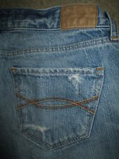 ABERCROMBIE & FITCH Madison Flare Destroyed Light Denim Jeans Womens Size 0 x 32