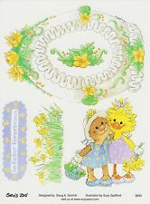 Suzys Zoo Scrapbooking Stickers 25 Sheets An Easter Remembrance Egg Daffodils