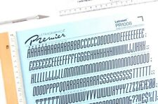 LETRAGRAPHICA/LETRASET Rub On Letter Transfers 72pt MEKANIK ITALIC (1008) 17mm