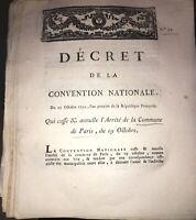 RÉVOLUTION.DOCUMENT SUR LA COMMUNE DE PARIS . AN PREMIER(1792).