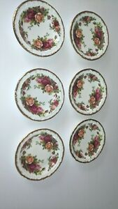 Royal Albert Old Country Roses Set Of 6 Butter Pat Dishes England