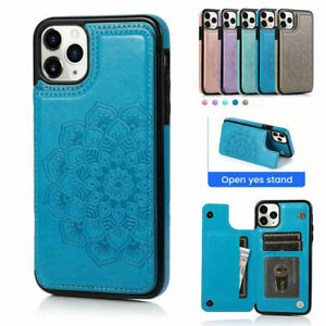 iPhone 12 11 Pro Xs Max 7 8 Xr SE Case Magnetic Flip Leather Wallet Cards Cover