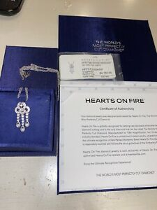 Hearts On Fire Diamond 18k Necklace White Gold
